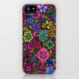 Flowers on the Brain iPhone Case