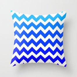 Aqua to Violet Chevrons  Throw Pillow