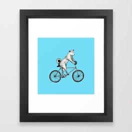 Shiba Inu Dog DJ-ing Framed Art Print