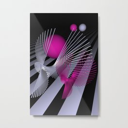 go pink -10- Metal Print