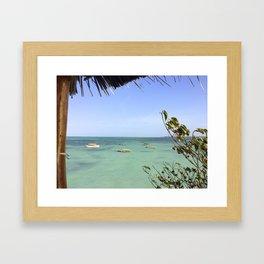 Zanzibar Boats Framed Art Print
