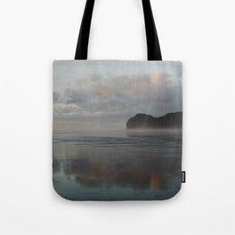 golden hour at piha beach Tote Bag