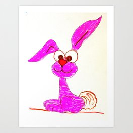 Pink Rabbit Art Print