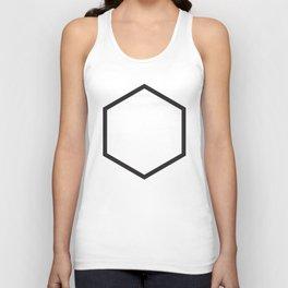 Minimal Hexagon Unisex Tank Top