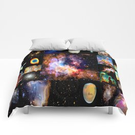 Space Galaxy Nebula Collage Comforters
