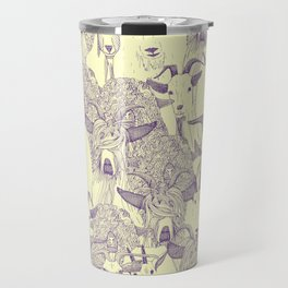 just goats purple cream Travel Mug