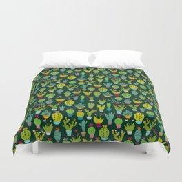 Dark cactus pattern Duvet Cover