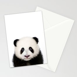 Baby Panda, Baby Animals Art Print By Synplus Stationery Cards