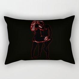 Ready for Loving (Black & Red)  Rectangular Pillow