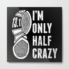 Marathon Design For Runners And Joggers Metal Print