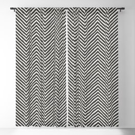 chevron painted Blackout Curtain