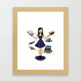 Ratona de Libros Framed Art Print
