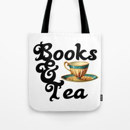 Books and Tea Tote Bag