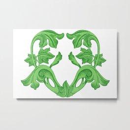 GREEN HEART  Metal Print