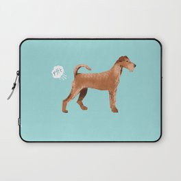 Irish Terrier farting dog cute funny dog gifts pure breed dogs Laptop Sleeve