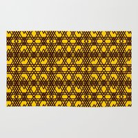 yellow pattern Area & Throw Rugs featuring yellow pattern by dedoma