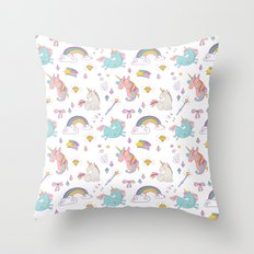Magic Unicorns Throw Pillow