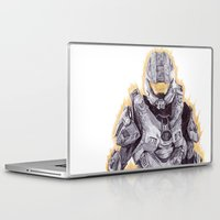 master chief Laptop & iPad Skins featuring Halo Master Chief by DeMoose_Art