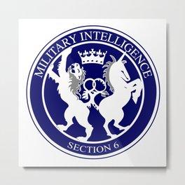 MI6 Logo Button Metal Print
