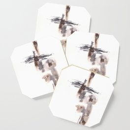 The Warrior for Justice - 151124  Abstract Watercolour Coaster