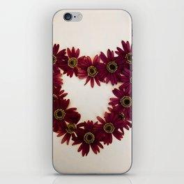 Red Flower Heart iPhone Skin