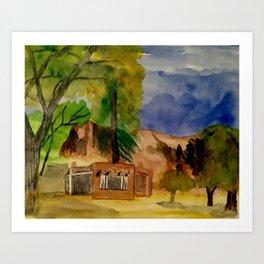 Ghost Ranch Landscape Art Print