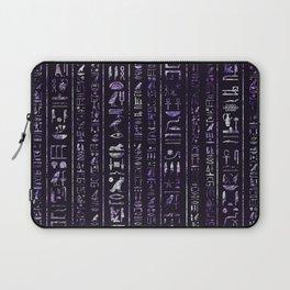 Amethyst and Silver Egyptian hieroglyphics pattern Laptop Sleeve
