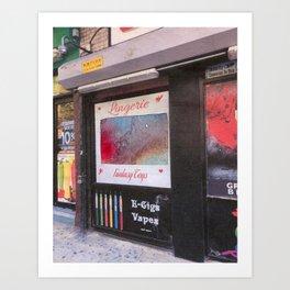 e-cigs and lingerie Art Print