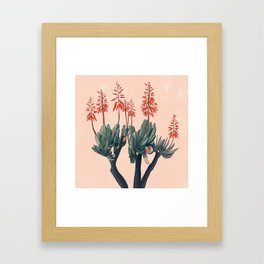 A blooming Plant Framed Art Print