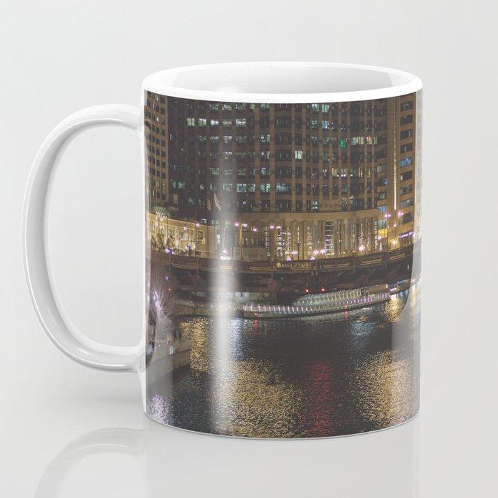 Chicago Skyline Nightshot Coffee Mug