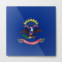 North Dakota State Flag Metal Print