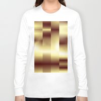 copper Long Sleeve T-shirts featuring Copper Pattern by Robin Curtiss