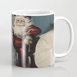 Vintage Santa Claus in a Motorized Sleigh (1920) Coffee Mug