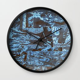 Negative-Style Abstract Pattern Wall Clock
