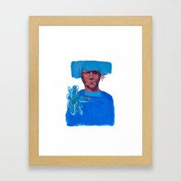 Lichtblauw Framed Art Print