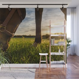 Grazig at Sunst Wall Mural
