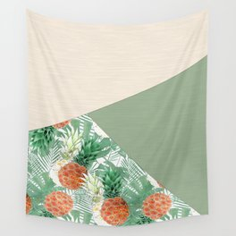 Combined pattern with pineapples. patchwork. Wall Tapestry