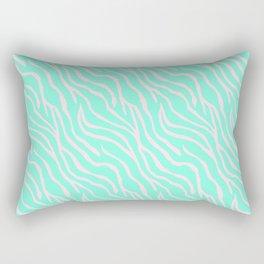 Green zebra Rectangular Pillow