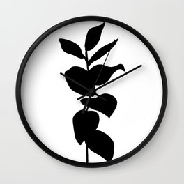 Leaves ink painting - Evie Wall Clock