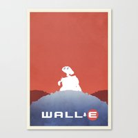 wall e Canvas Prints featuring Wall E by Mattias Fahlberg
