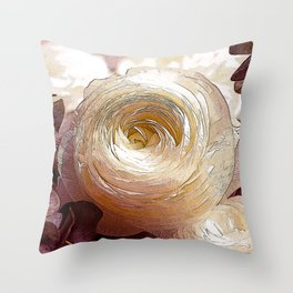 NL 14 Pale Rose Throw Pillow