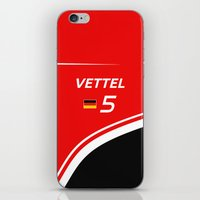 f1 iPhone & iPod Skins featuring F1 2015 - #5 Vettel by MS80 Design