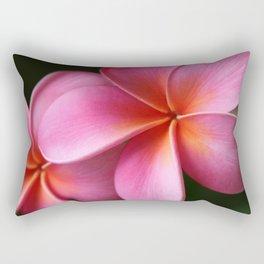Pua Lei Aloha Cherished Blossom Pink Tropical Plumeria Hina Ma Lai Lena O Hawaii Rectangular Pillow