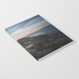 The Jetty at Sunset - Vertical Notebook