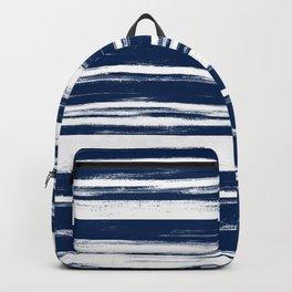 Indigo Natural Stripes Backpack
