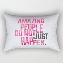 Amazing People Motivational Quote Rectangular Pillow