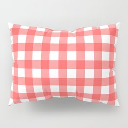 Plaid (Red & White Pattern) Pillow Sham