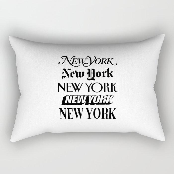 I Heart New York City Black and White New York Poster I Love NYC Design black-white home wall decor Rectangular Pillow