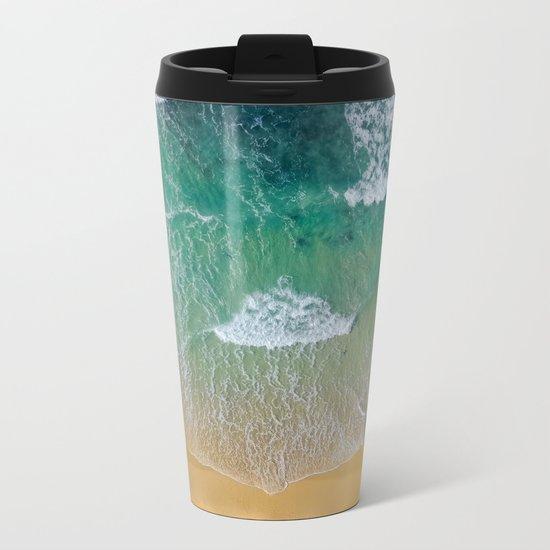 Ocean from the sky Metal Travel Mug