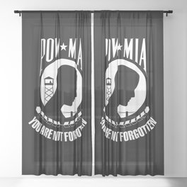 POW MIA - Prisoner of War - Missing in Action flag Sheer Curtain